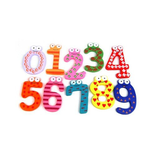 Fun Kid Arabic Magnetic Numbers Wooden Fridge Magnets for Kids Educational toys Fast Shipping(China (Mainland))