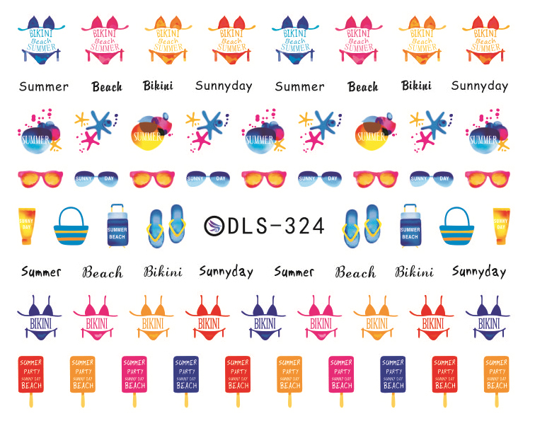 DIY Water Transfer Foils Nail Art Sticker Fashion Nails Colorful English Letters Decals Minx Cute Nail Decorations(China (Mainland))