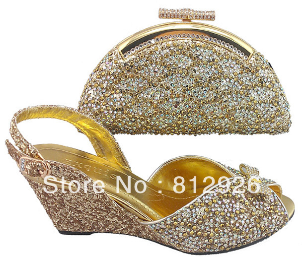 Free shipping! italian wedding bag and shoe set  wholesale and retail,Size38-42