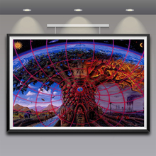 Trippy Alex Grey Art Silk Fabric Psychedelic Poster Print Classic Wall Home Decor 12x18 16X24 Inches Free Shipping(China (Mainland))