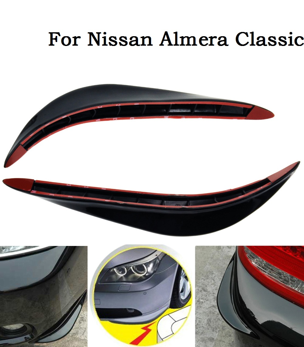 2X Universal Car crash bar rubber bumper anti-rub Auto Accessories car decoration strip for Nissan Almera Classic(China (Mainland))