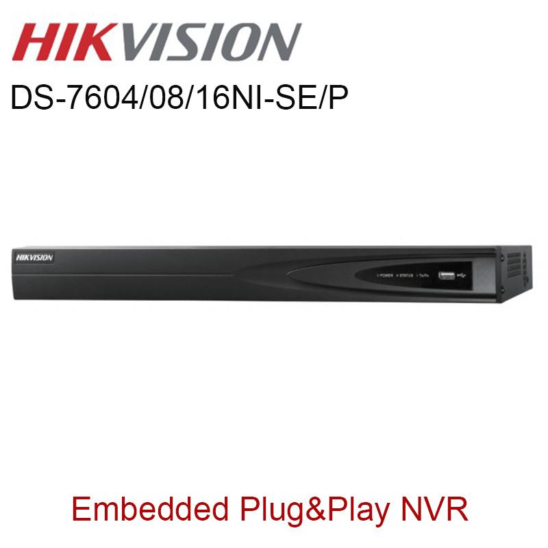 Hikvision NVR English Version DS-7604NI-SE/P DS-7608NI-SE/P DS-7616NI-SE/P PoE NVR 4ch 8ch 16ch Embedded Plug Play NVR(China (Mainland))