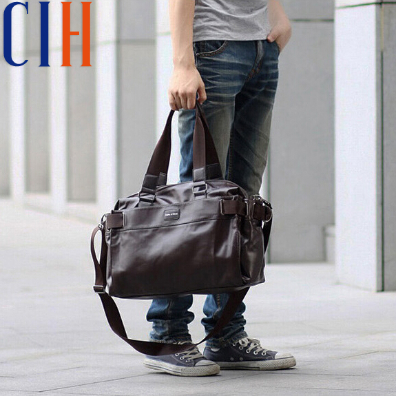 Charm in hands! 2015 Good Quality Men's Travel Bags Leather Brand Luxury Men Messenger Bags Large Capacity Men Bags LM1262A(China (Mainland))
