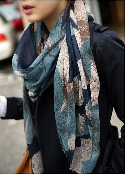 1PC 100 180cm New Fashion Hot sale big Flower Peddles Printed Women winter scarf