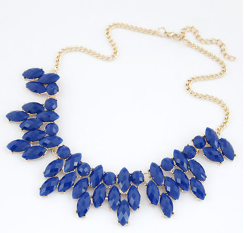 2015 Summer Style Collares Mujer Statement Necklaces Pendants Imitated Gemstone Jewelry Collier Femme for Women Accessories