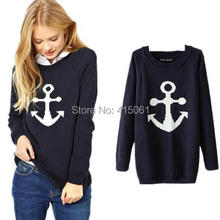 New Arrival Brand Women Sweater Anchor & Bicycle Fashion Winter Pullover Sweater Casual Tops Kintwear  S M L(China (Mainland))