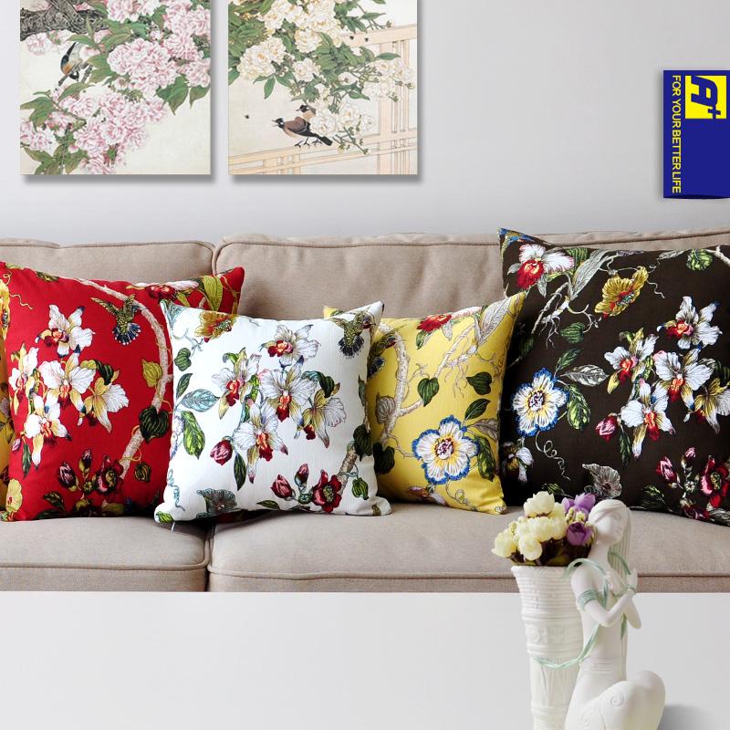 acheter livraison gratuite tissu de coton canap taie d 39 oreiller pour canap. Black Bedroom Furniture Sets. Home Design Ideas