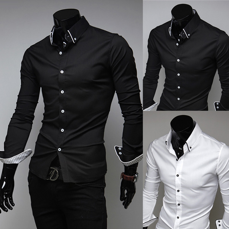 High Quality Pure Black Shirt Promotion-Shop for High Quality ...