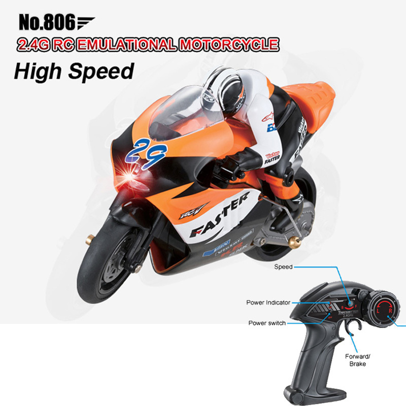 Freeshipping Children JXD 1:10 Mini RC Motorcycle 2.4GHz High Speed Remote Control Moto RTR Electric Toys Gift For Kids No.806(China (Mainland))