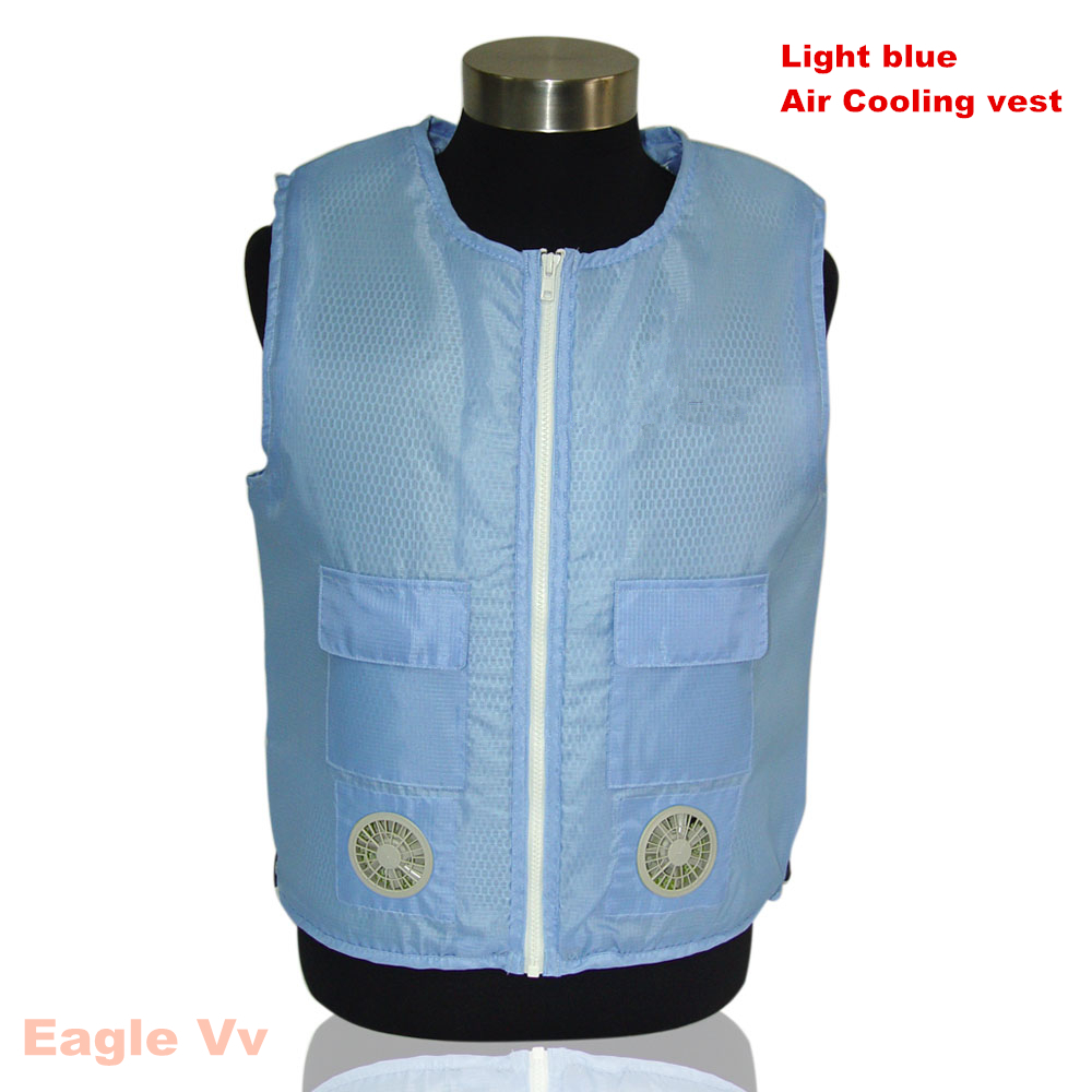 Air Cooling Vest : Nerest fashion round collar personal air cooling vest