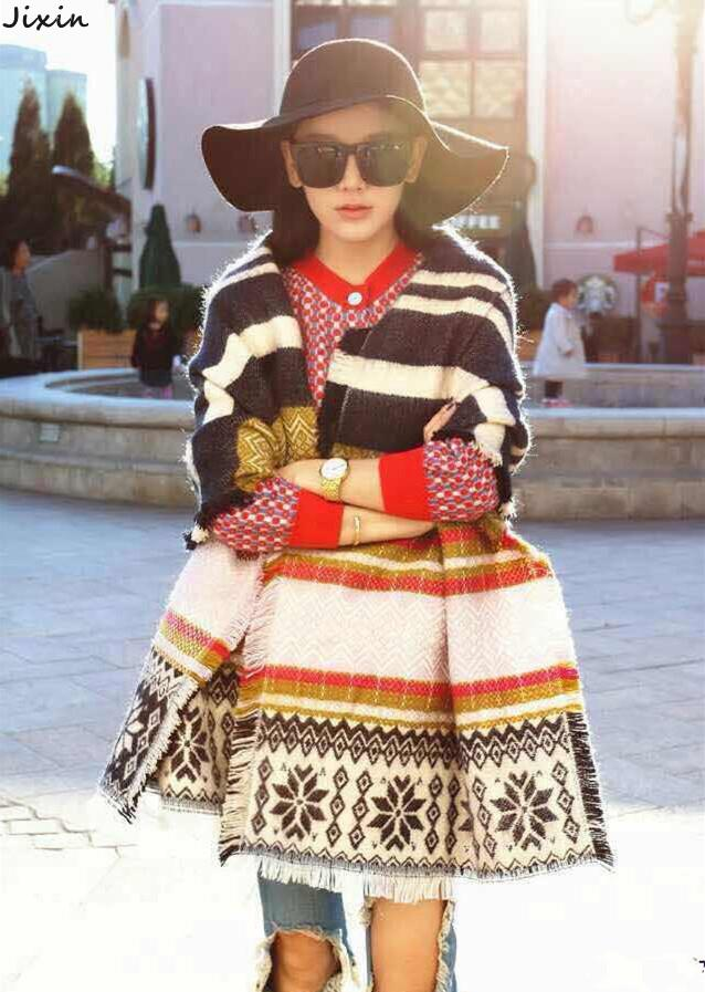 Za New Arrival Winter Women Scarves Imitation Cashmere Snowflake Striped Scarf Spain Brand bufanda manta cuadros 200 * 50cm(China (Mainland))