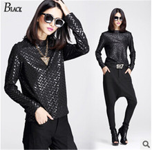 Buy 3 styling woman autumn new long-sleeved shirt tops 2017 black long-sleeved shirt printing brand fashion punk sexy tshirt women for $22.50 in AliExpress store