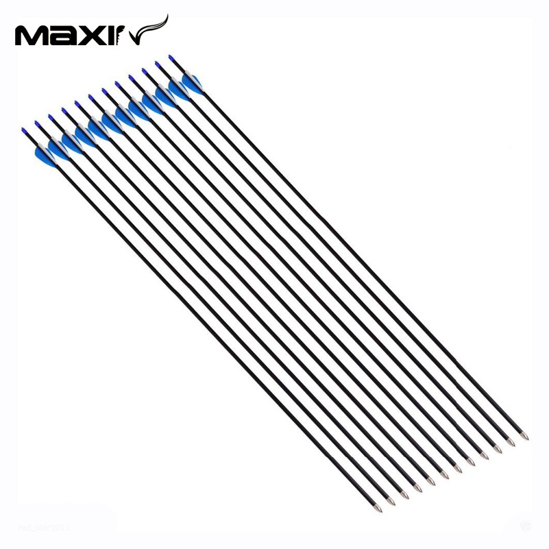 Maxin New Arrival 12X 4 2mm Inner Diameter Archery Carbon Arrows 32 81cm Length Arrow Carbo