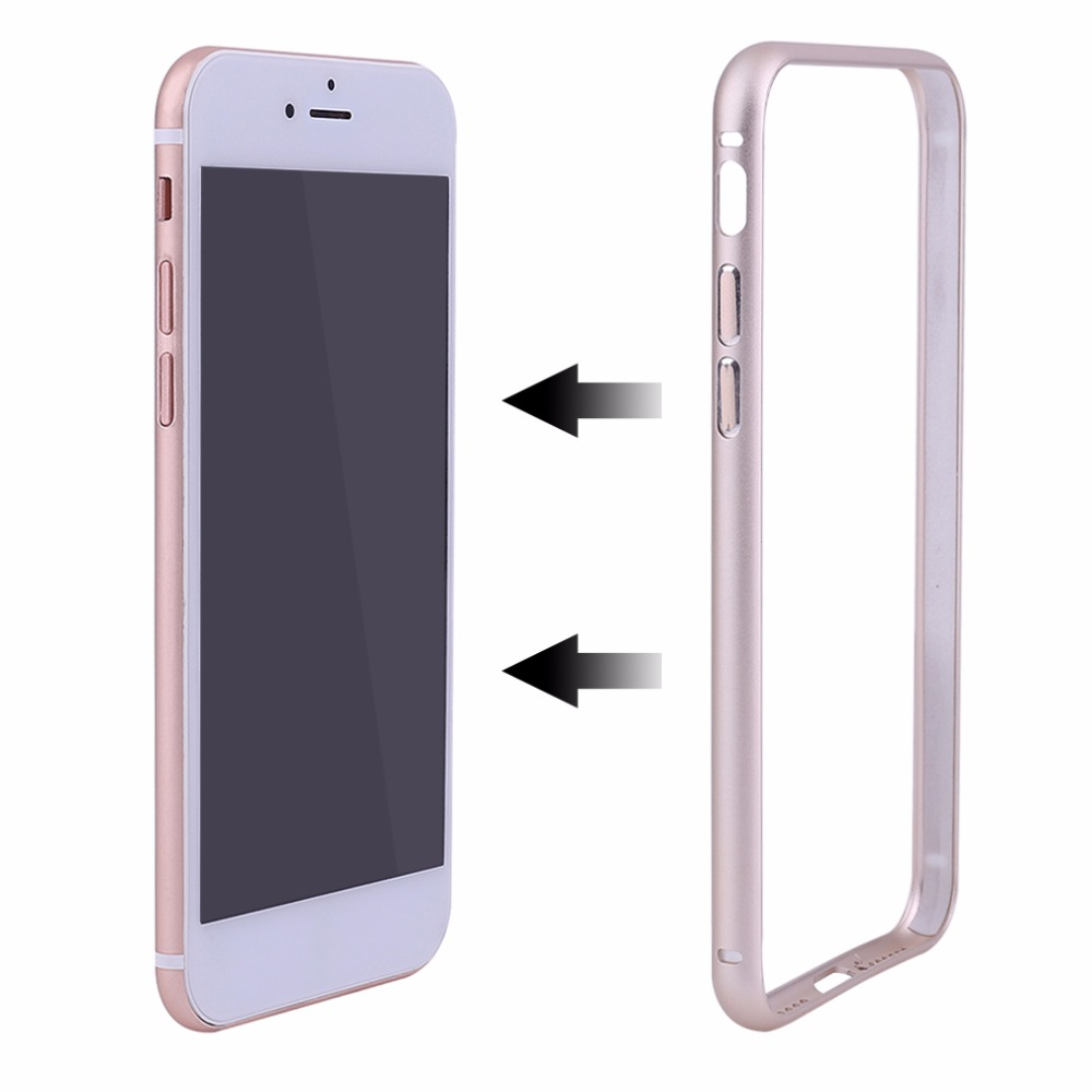 Super Thin Mobile Phone Protective Case Cover Housing Durable Metal Frame Case Bumper For Iphone 7 Plus Gold Rose Gold Silver(China (Mainland))