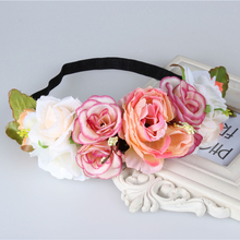 Rose Flower Wreath headband