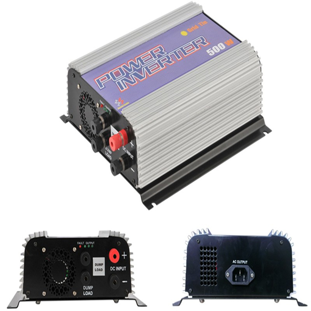 500W Grid Tie Solar Power Inverter for DC Output Wind Turbine MPPT Pure Sine Wave Inverter with Dump Load(China (Mainland))