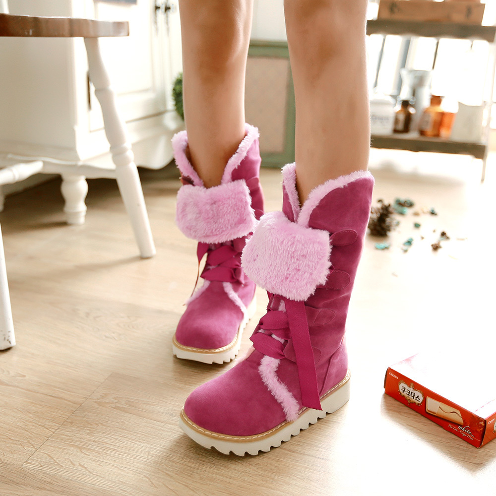 Pink Snow Boots For Women - Boot Hto