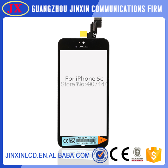 10pcs/lot Black color Lcd display Replacement For Iphone 5C screen Free shipping(China (Mainland))