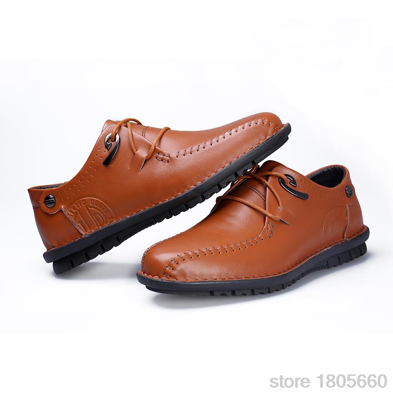 Free Shopping Fashion Cool Men Dress Shoes Breathable Leather Men s Flats Low Casual Sneakers Spring