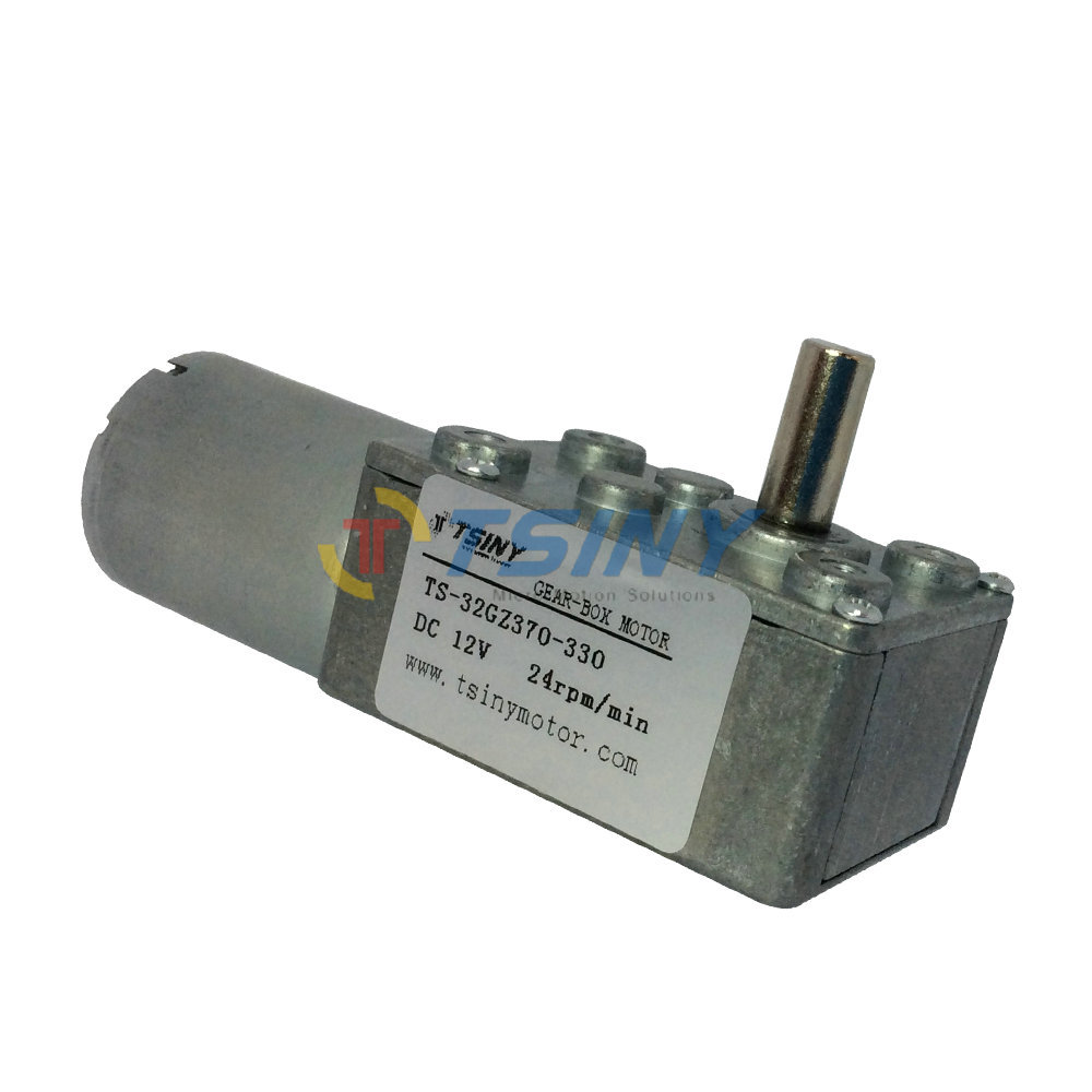 DC motor metal gear 12V 24rpm electric geared worm motor free shipping rated torque 4.2kg.com(China (Mainland))