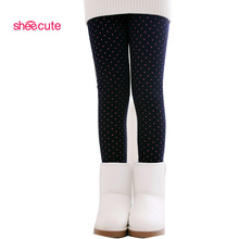 2014 Spring Autumn Winter New Fashion Children's 2-9 Year Cotton Warm Pant Girls KidsTrousers Print Legging
