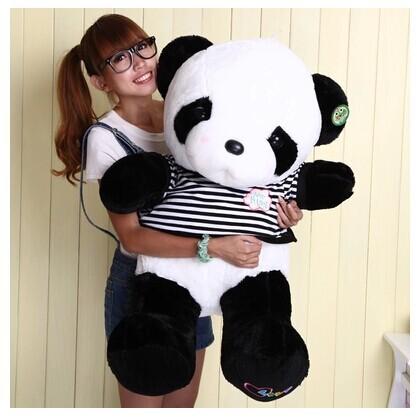 stuffed animal lovely panda sweater love baby panda about 70cm plush toy panda doll throw pillow gift w3824(China (Mainland))