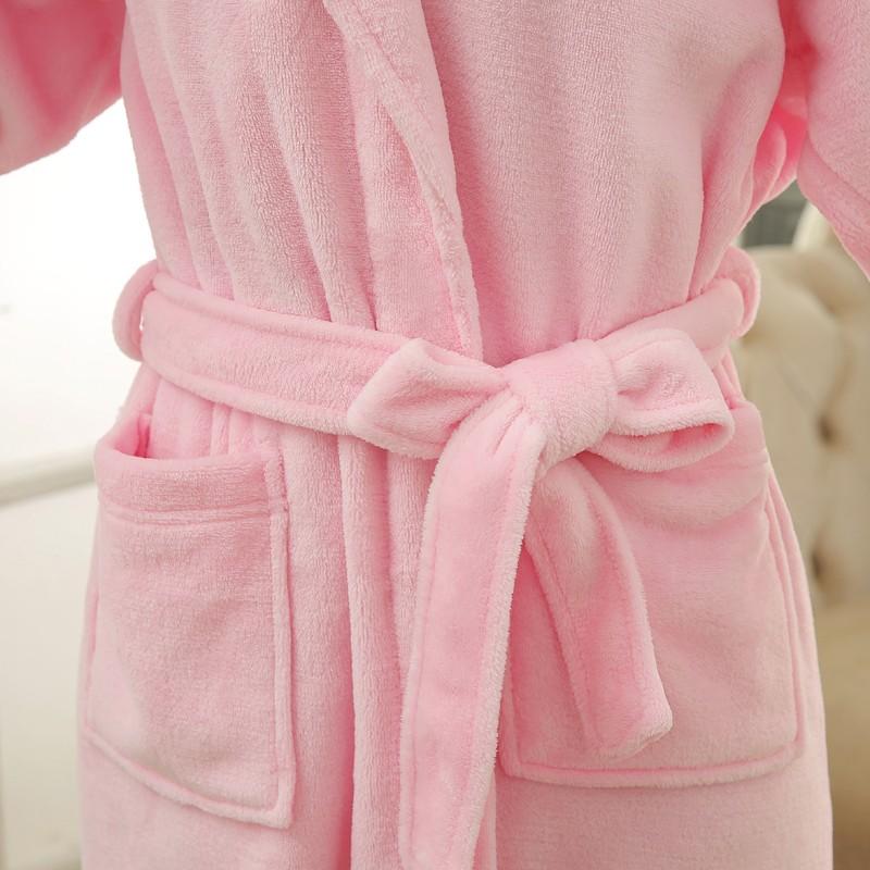 Unisex Mens Women\`s Long Polyester Sleep Lounge Robes RBS-C LYQ114 8