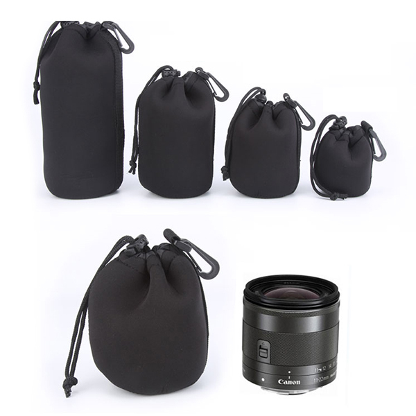 Single-lens Reflex Camera Lens Protective Waterproof Neoprene Soft And Flexible Pouch Case Bag 4pcs /Lot(S+M+L+XL Size)(China (Mainland))