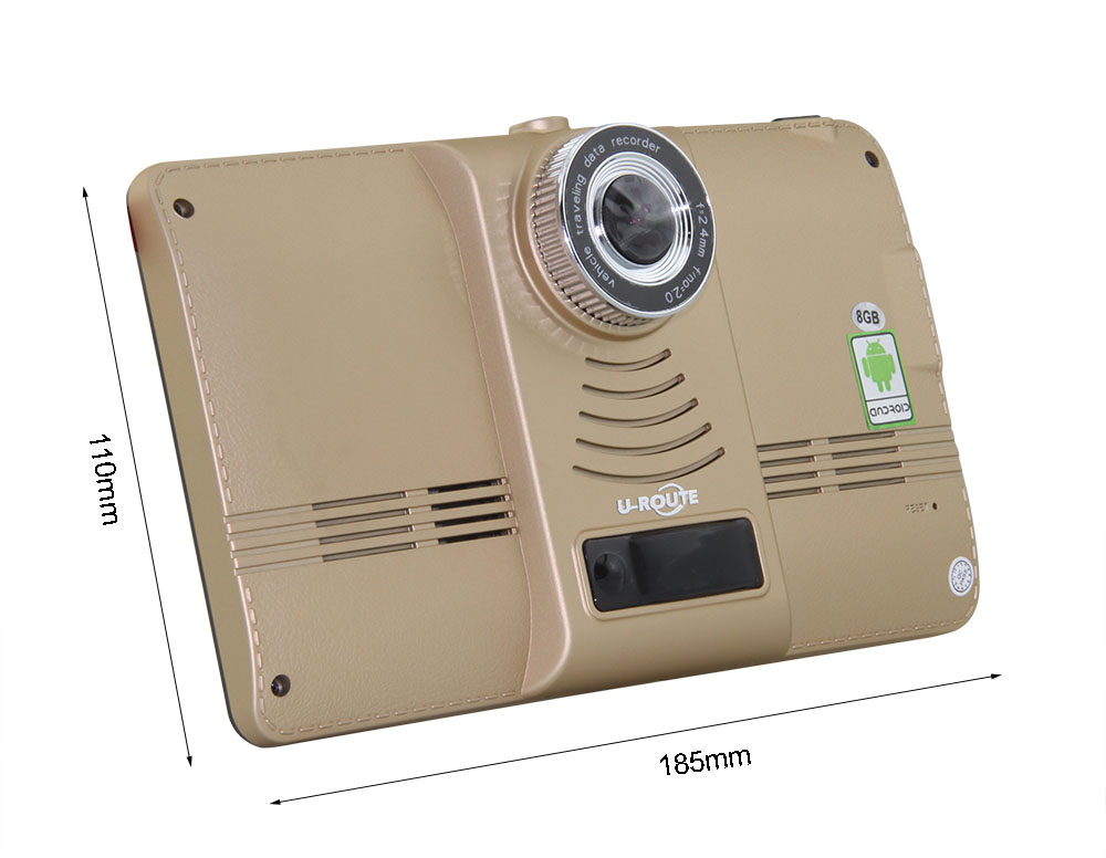 7″ Wifi Car DVR Camera GPS Navigation Dashcam Android 4 Video Recorder Bluetooth Camcorder Parking Rear Camera Full HD 1080P