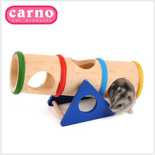 New 2015 Hamster Accessories Play Tube Toys Petshop Small Animal Supplies Rainbow Wooden Hamster Maze Toys(China (Mainland))