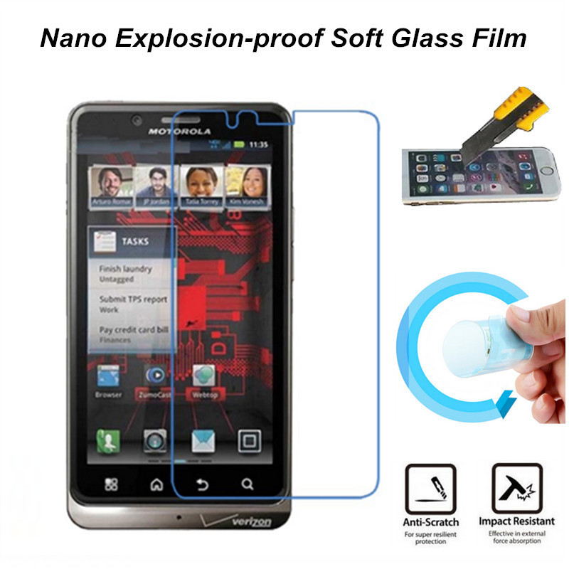 Nano Explosion-proof Soft Glass Protective Film Screen Protector for MOTO XT875 Droid Bionic(China (Mainland))