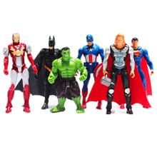 Superheroes The Avengers Batman Spider Man Iron Man Hulk Thor Captain America Joint Moveable PVC Figure Model Toys
