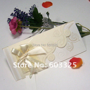 T047 classical Romantic Party Wedding invitation cards Greeting Invitations Cards with knot 50pcs/lot
