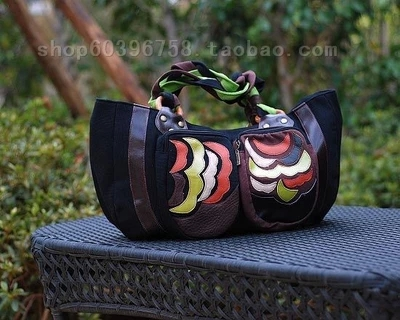 Creative Handbag Ms Large Parcel China Wind Wind Wooden