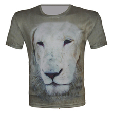 lion head print animal t shirt women men 2015 summer new fashion 3d t-shirt brand design casual sport clothes size xs-6xl tops