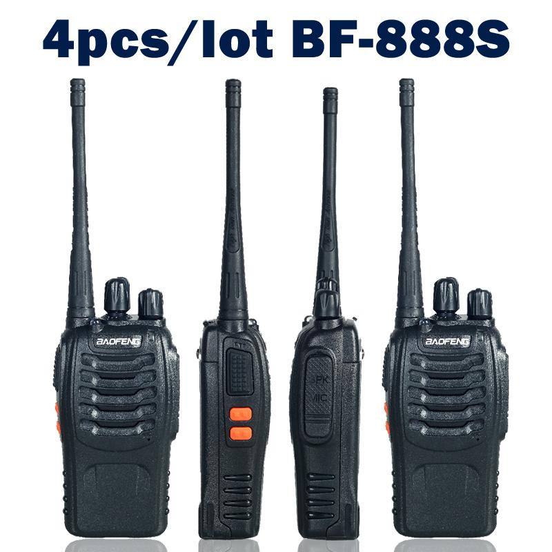 4pcs/lot Baofeng bf-888s Two Way Radio Walkie Talkie Dual Band 5W Handheld Pofung bf-888s 400-470MHz UHF Radio Scanner(China (Mainland))