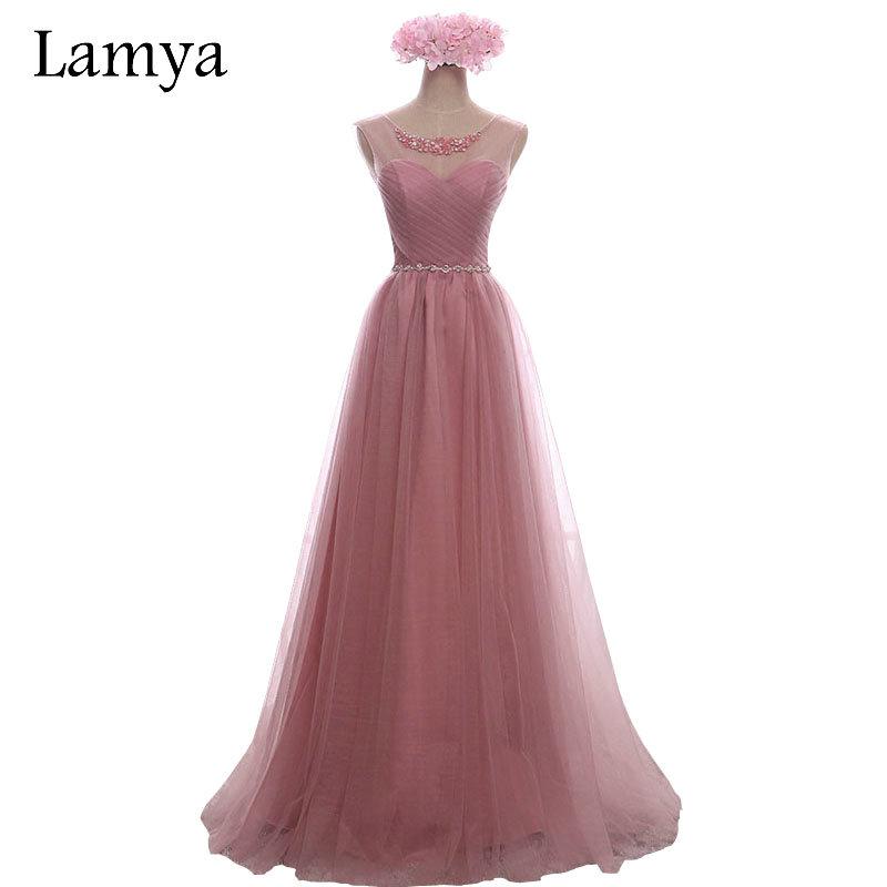 Real Sample Cheap Long White Chiffion With Crystal Bridesmaid Dresses 2016 Fashion Pink Formal Dress Vestidos De Novia(China (Mainland))