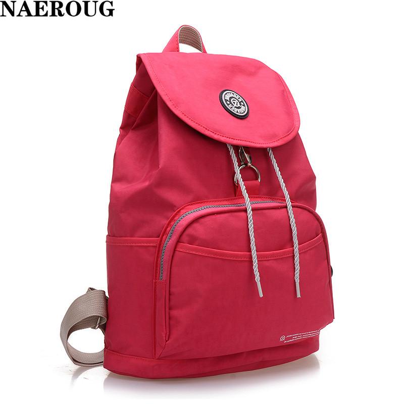 2016 New Women Waterproof Nylon 10 Colors Lady Backpack Women's Backpacks Female Casual Travel Bag Bags Mochila Feminina(China (Mainland))
