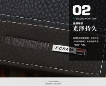 Hot 2015 New Designer brand business black leather Men wallets short purse card holder fashion carteira
