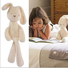 "1pcs 20"" 50cm Mamas & Papas baby rabbit sleeping comfort doll plush toys Millie & Boris Smooth Obedient Rabbit Sleep Calm Doll(China (Mainland))"