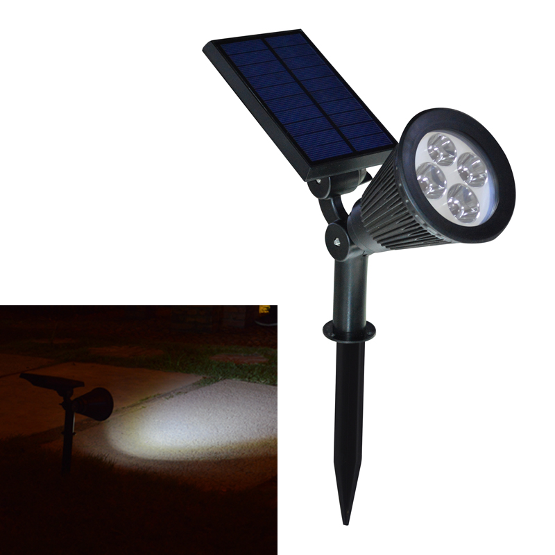 new arrival led solar light outdoor solar power spotlight garden lawn. Black Bedroom Furniture Sets. Home Design Ideas