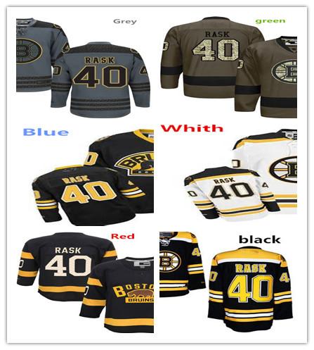 #40 Tuukka Rask Hockey Jersey Size:S-4XL(China (Mainland))