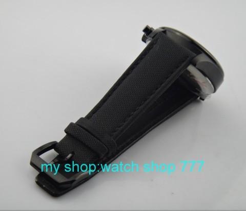 ПАРНИС 42 мм PVD черный обшивки корпуса хронограф Японский кварцевый световой холст мужские часы оптовая xoo30