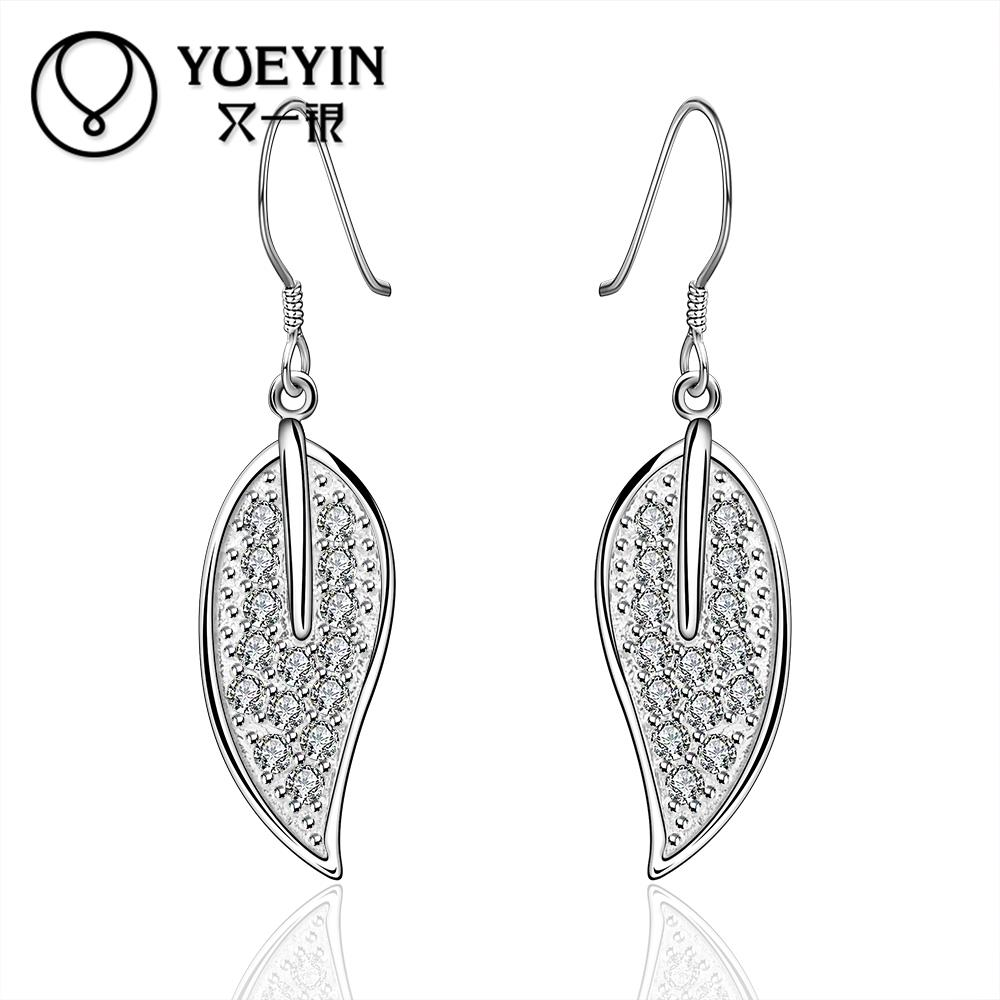 Hot sale fine Jewelry E5752015 New supplies Silver Plated Women Earrings fashion high quality(China (Mainland))
