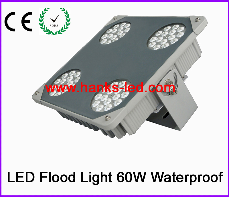 2015 Newest product led flood light 60w for gas station and warehouse use free shipping(China (Mainland))