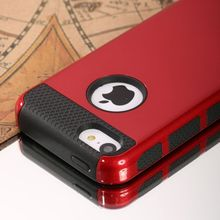 Colorful Heavy Duty Hybrid Rugged Hard Case Cover For iPhone 5C +Screen Film(China (Mainland))