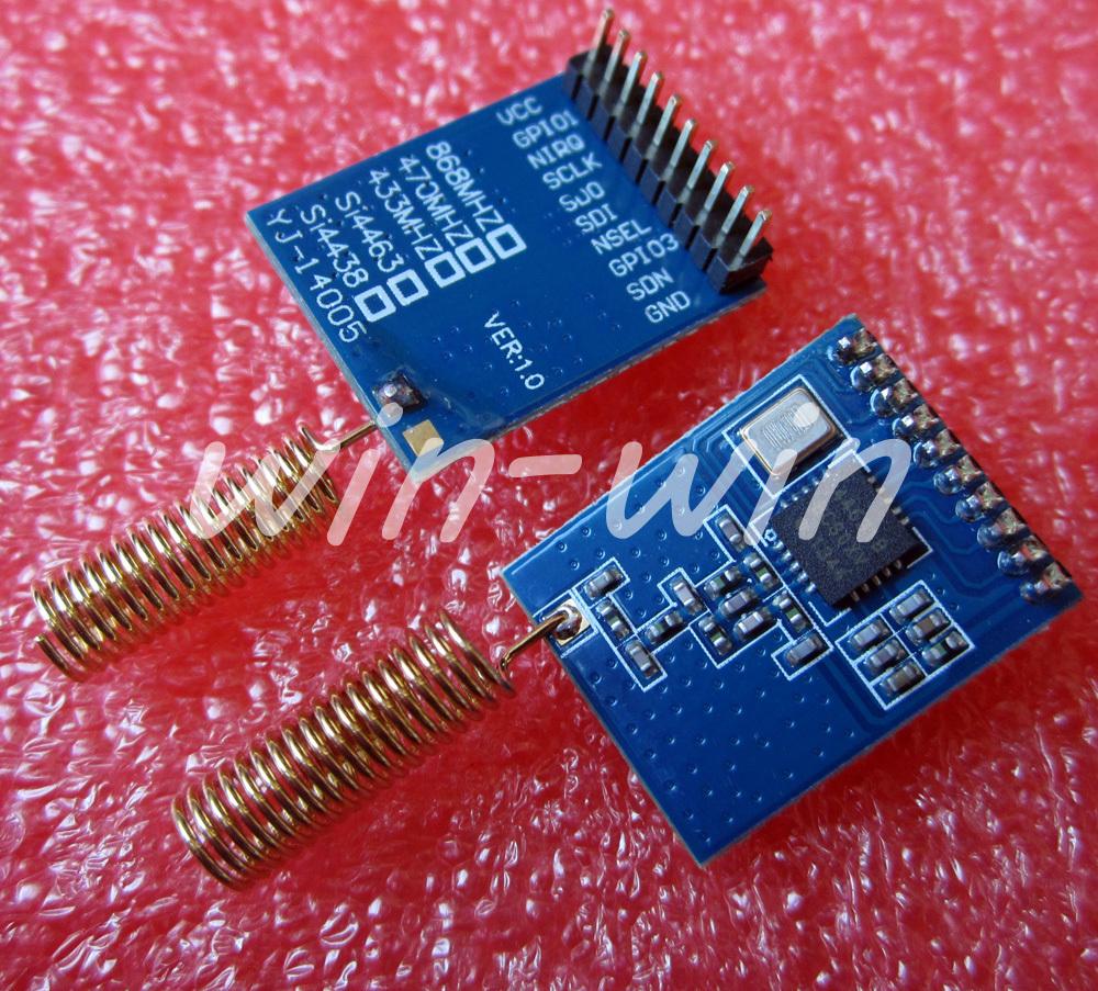 2 шт. SI4463 Беспроводной Модуль 868 МГЦ NRF905/SI443238/CC11101