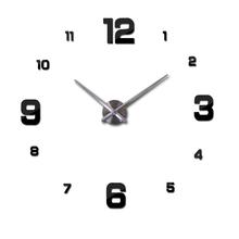Home decoration black digital wall clock Modern design big wall sticker wall clocks wall watch unique gift W005b