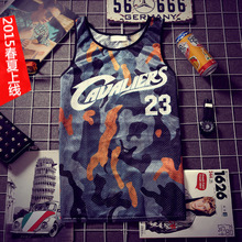 2015 summer mens mesh tank tops camouflage debardeur homme sport gym vest male