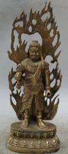 JP S0524 11 Japan Japanese Buddhism Bronze Stand Fudo Myo-o / Acalanatha Buddha Statue